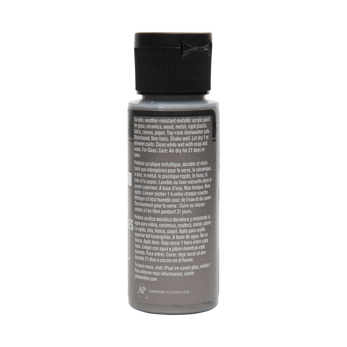 FolkArt ® Multi-Surface Metallic Acrylic Paints - Nickel, 2 oz.