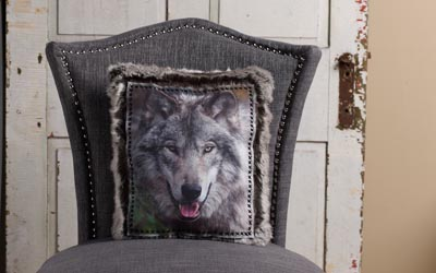 Wolf Throw Pillow for Home Decor