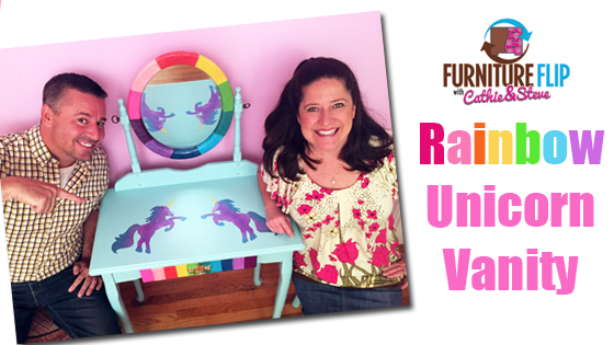How to make a Rainbow Unicorn Vanity