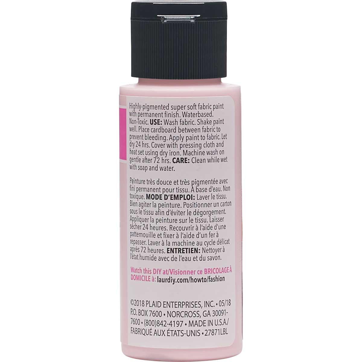LaurDIY ® Perfect Fabric Paint - Pinky Swear, 2 oz.