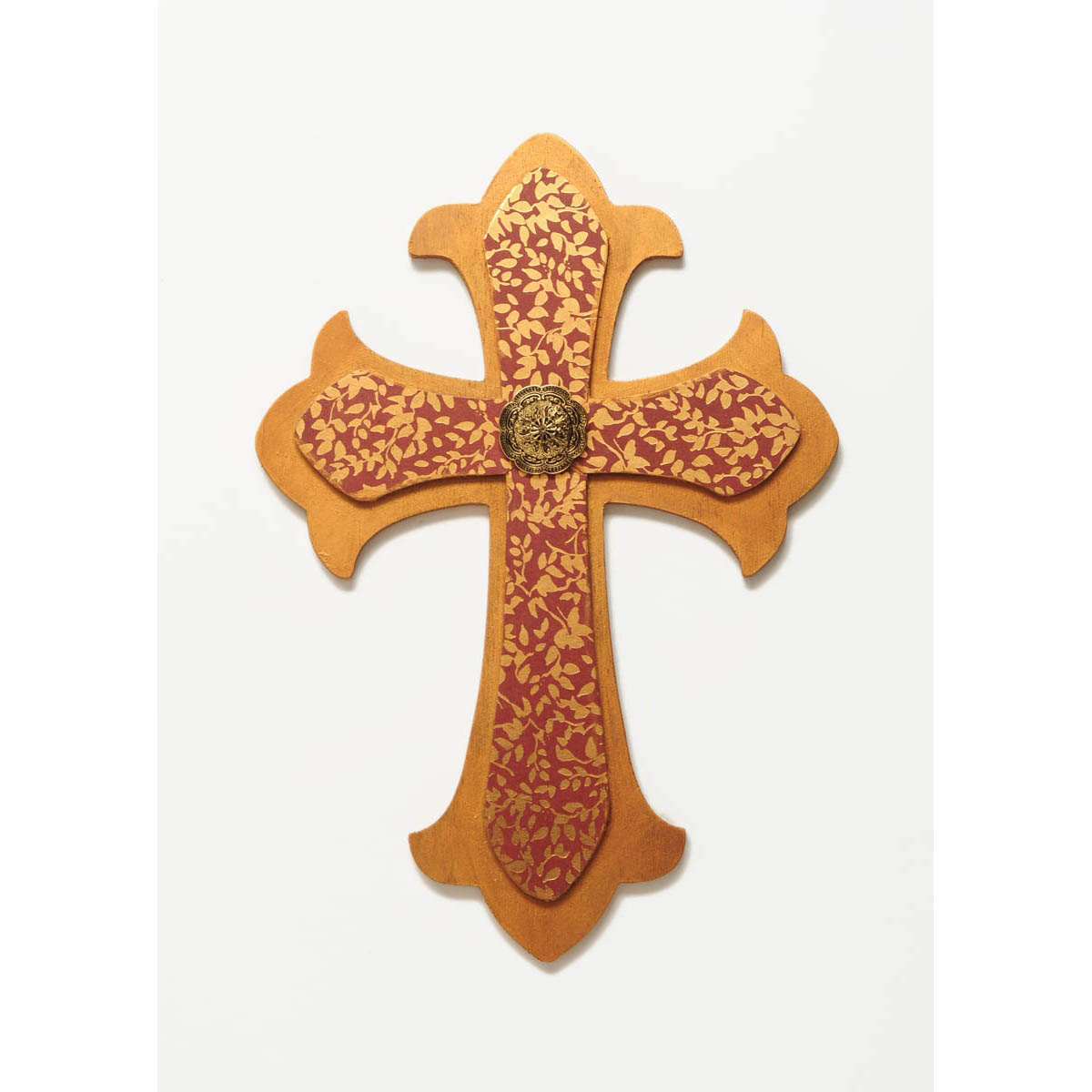 Plaid ® Wood Surfaces - Shape - Large Fleur De Lis Cross - 97499
