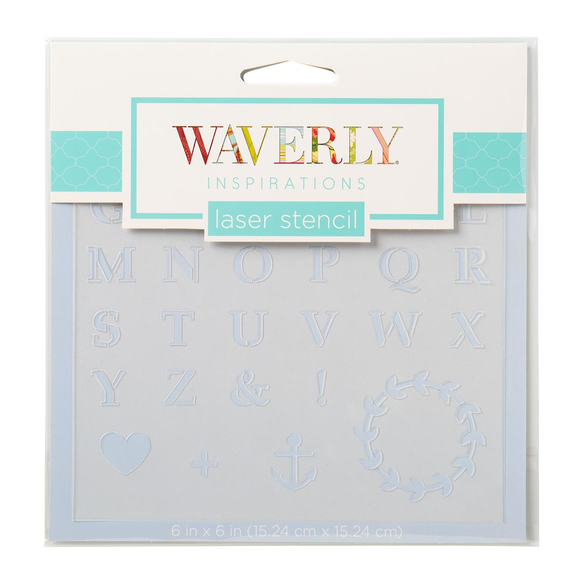 Waverly ® Inspirations Laser Stencils - Accent - Alpha Basic, 6