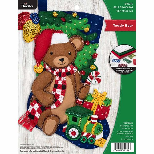 Bucilla ® Seasonal - Felt - Stocking Kits - Teddy Bear - 89231E