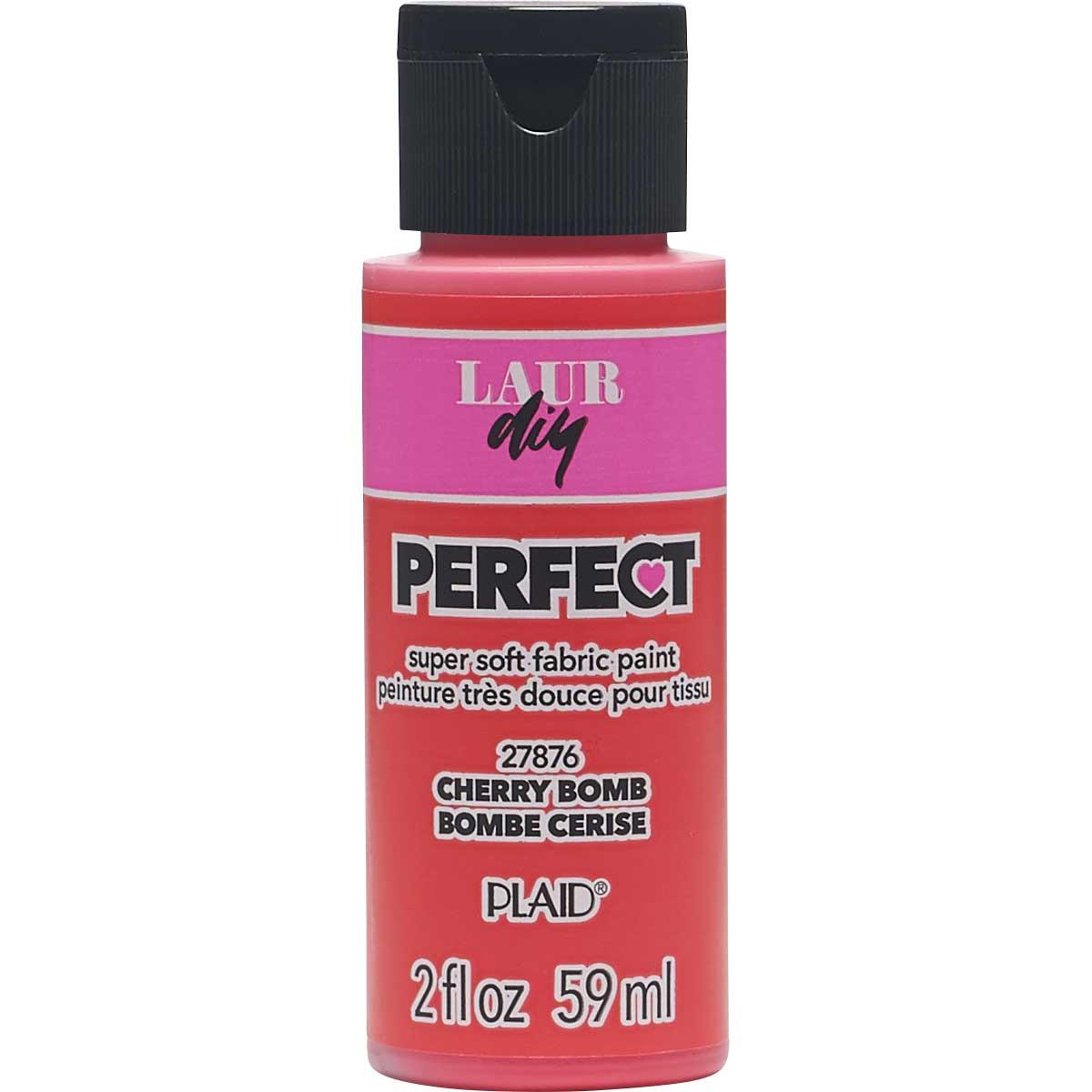 LaurDIY ® Perfect Fabric Paint - Cherry Bomb, 2 oz.