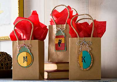 Seasonal Leather Gift Tags