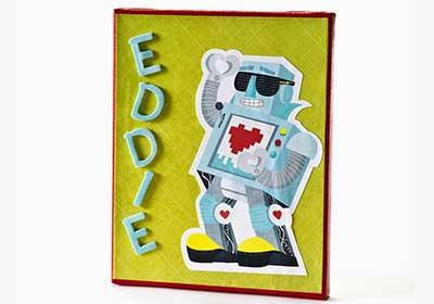 Robot Greeting Card Wall Art