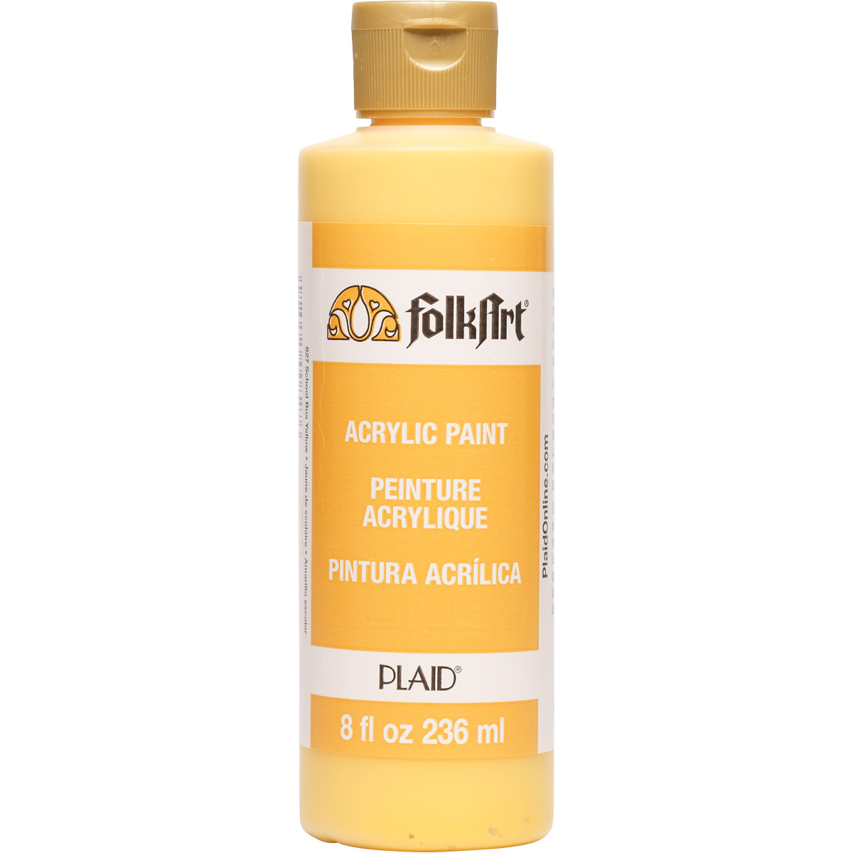FolkArt ® Acrylic Colors - School Bus Yellow, 8 oz.