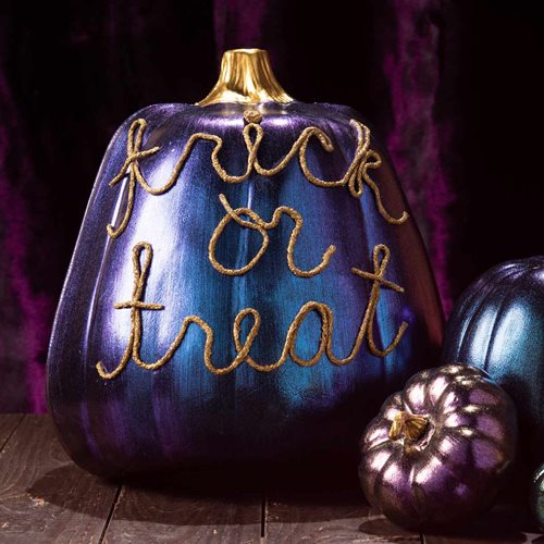 No-Carve Pumpkin DIY with Dragonfly Glaze