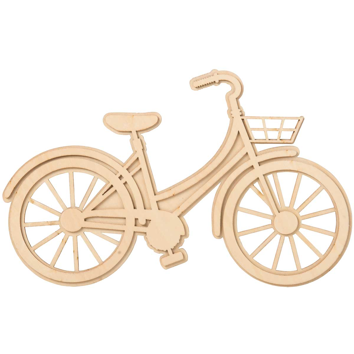 Plaid ® Wood Surfaces - Unpainted Layered Shapes - Bicycle - 59708