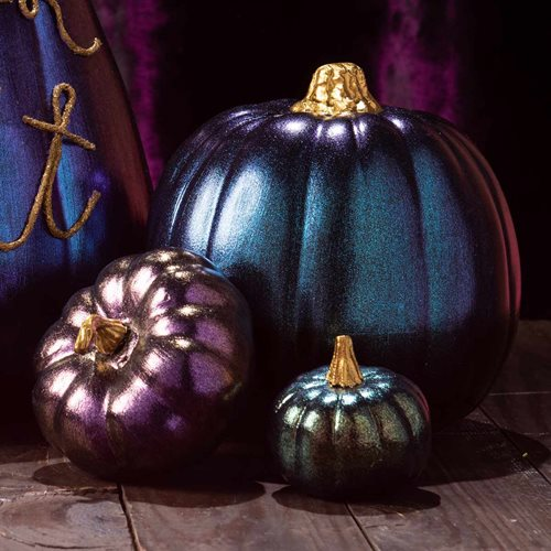 DIY No-Carve Iridescent Pumpkin Idea with Dragonfly Glaze