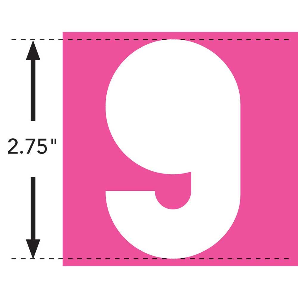 LaurDIY ® Iron-on Fabric Letters - 9