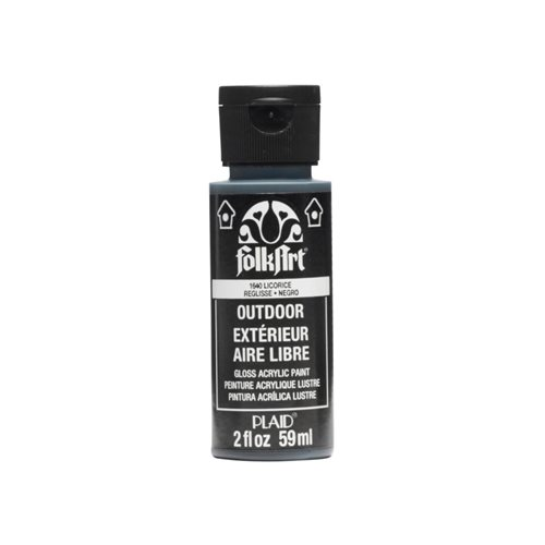 FolkArt ® Outdoor™ Acrylic Colors - Licorice, 2 oz.