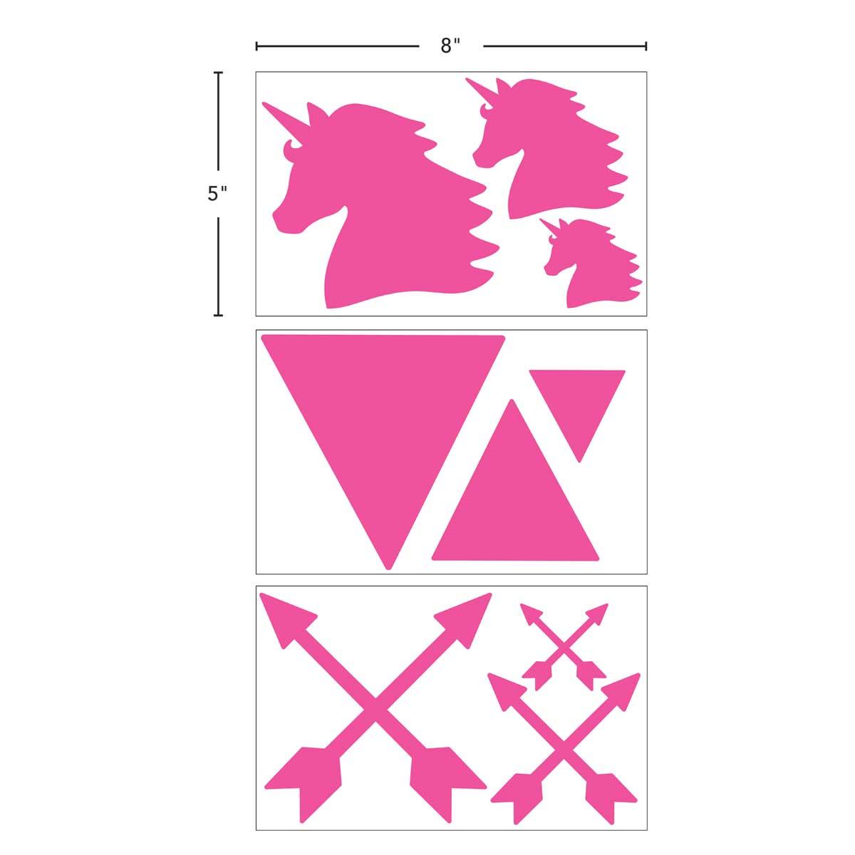 LaurDIY ® Sticky Vinyl Masking Stencils - Unicorn Whimsy