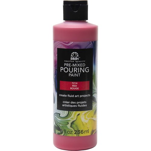 FolkArt ® Pre-mixed Pouring Paint - Red, 8 oz. - 7214