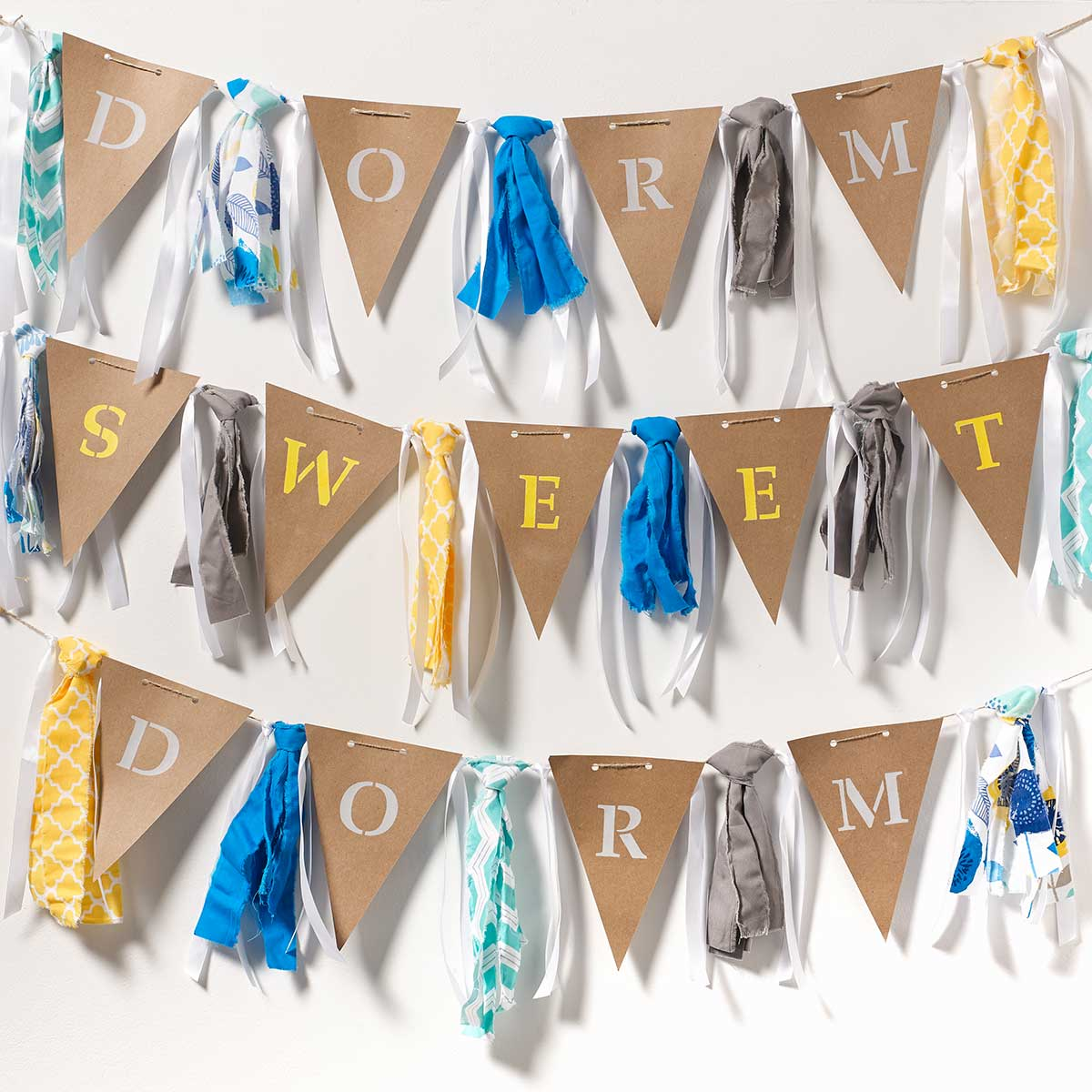 DIY Dorm Room Decoration - Pennant Banner