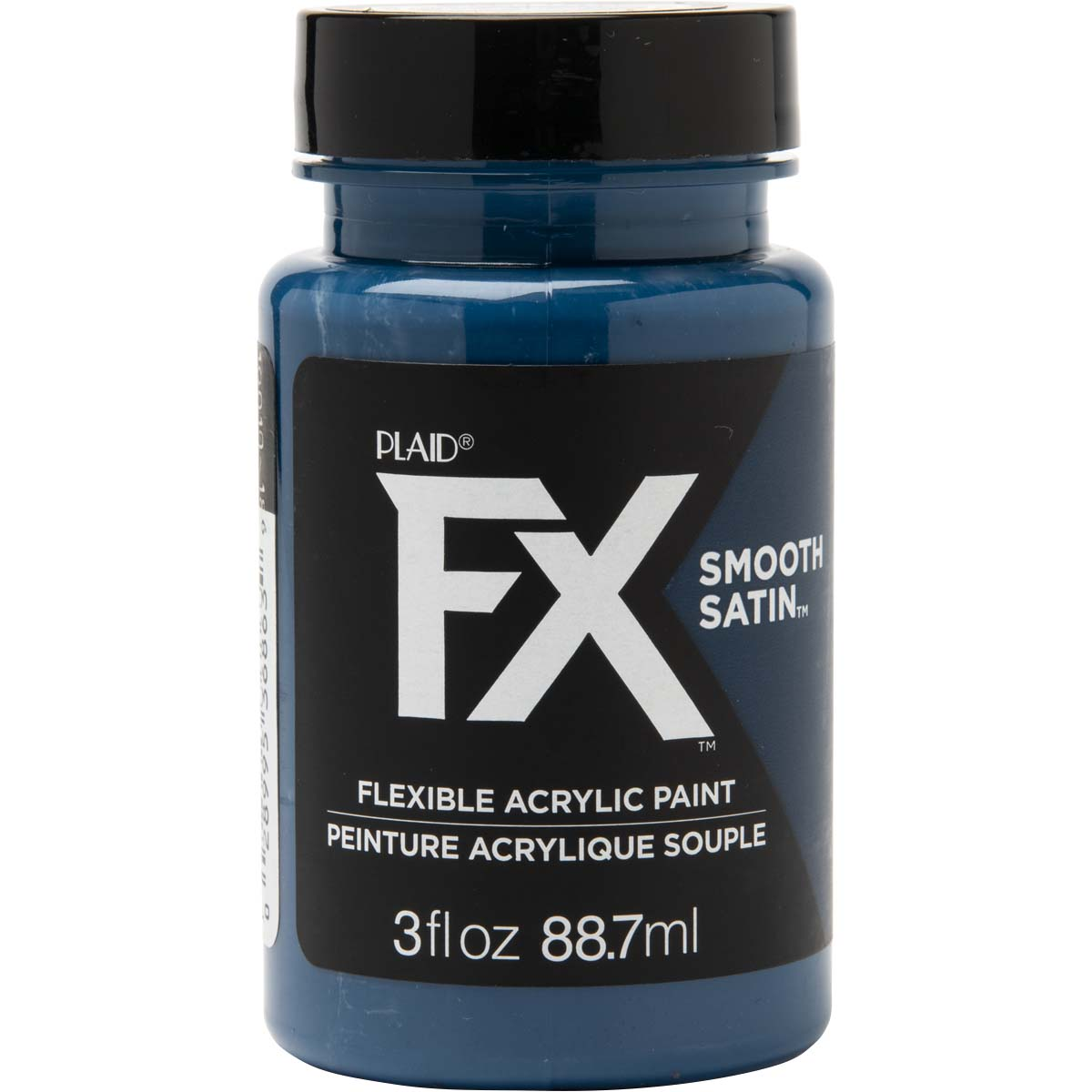 PlaidFX Smooth Satin Flexible Acrylic Paint - Commander Navy, 3 oz. - 36863