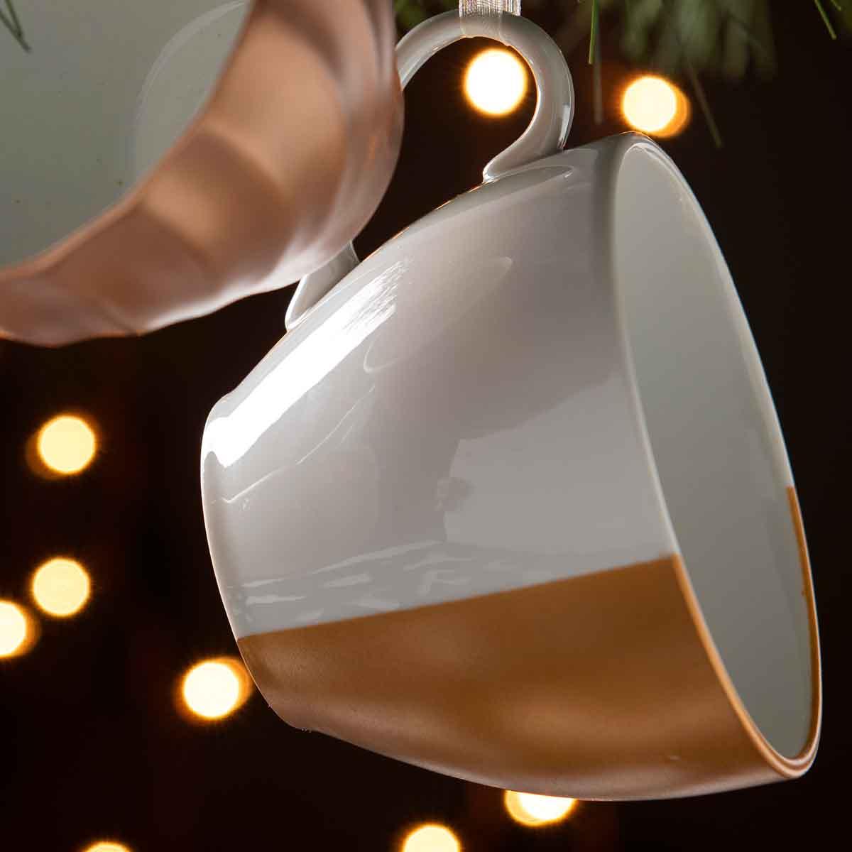 Metallic Teacup Ornaments