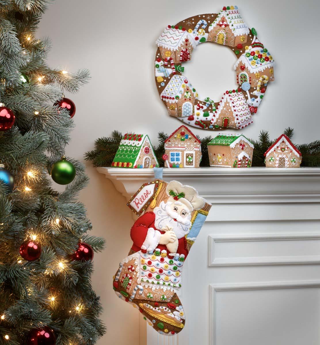 Bucilla ® Seasonal - Felt - Stocking Kits - Gingerbread Christmas - 89331E