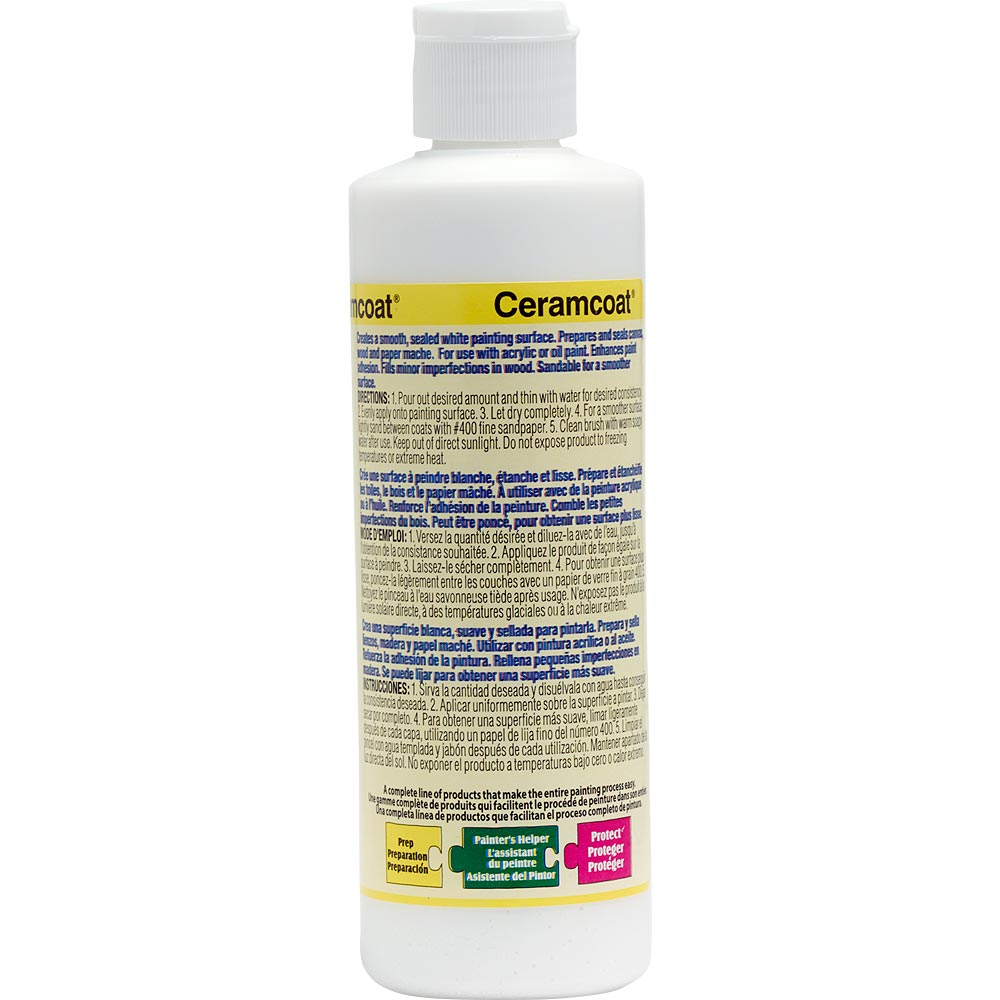 Delta Ceramcoat ® Sealers - Gesso, 8 oz.