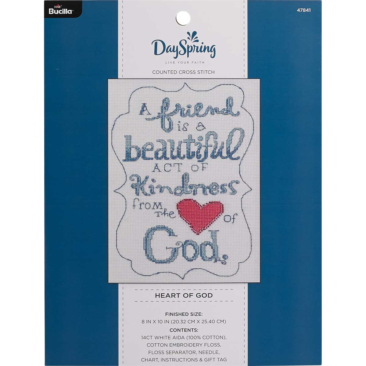 Bucilla ® Counted Cross Stitch - Picture Kits - DaySpring - Heart of God - 47841