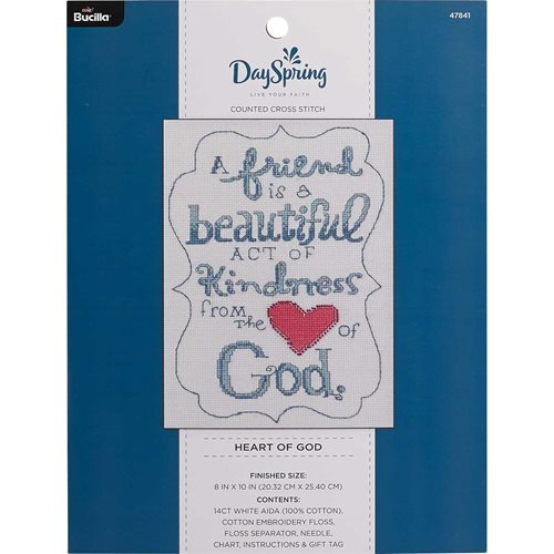 Bucilla ® Counted Cross Stitch - Picture Kits - DaySpring - Heart of God
