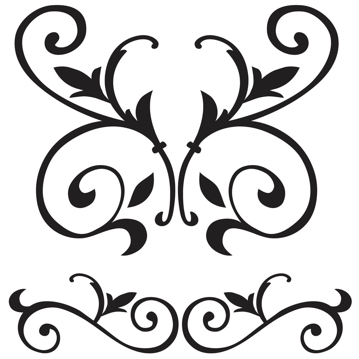 FolkArt ® Painting Stencils - Large - Scroll - 30594