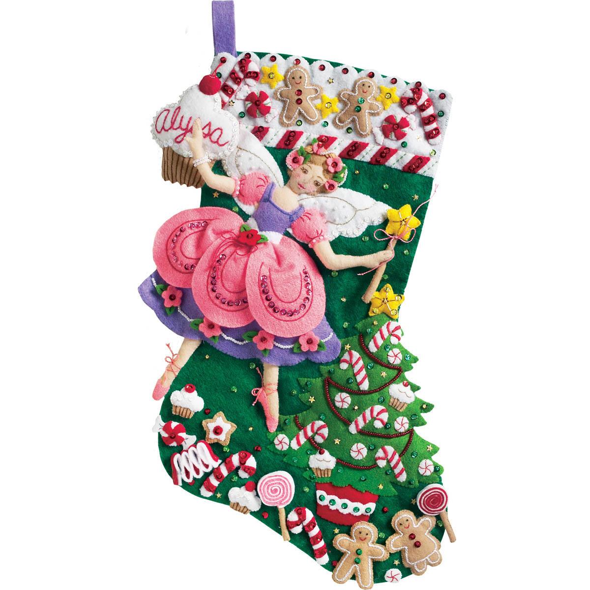 Bucilla ® Seasonal - Felt - Stocking Kits - Christmas Sugar Plum Fairy