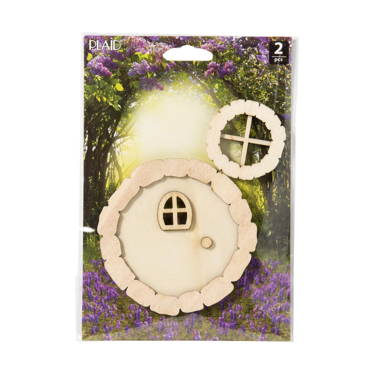Plaid ® Wood Surfaces - Fairy Garden - Round Door and Window 2 pc.