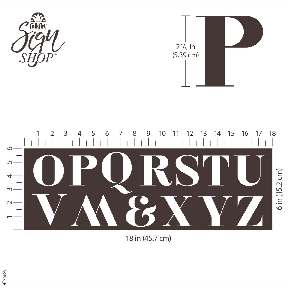 FolkArt ® Sign Shop™ Mesh Stencil - Serif Letters, 2 pc. - 63393