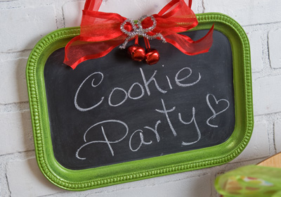 Christmas Cookie Swap Party - Chalkboard