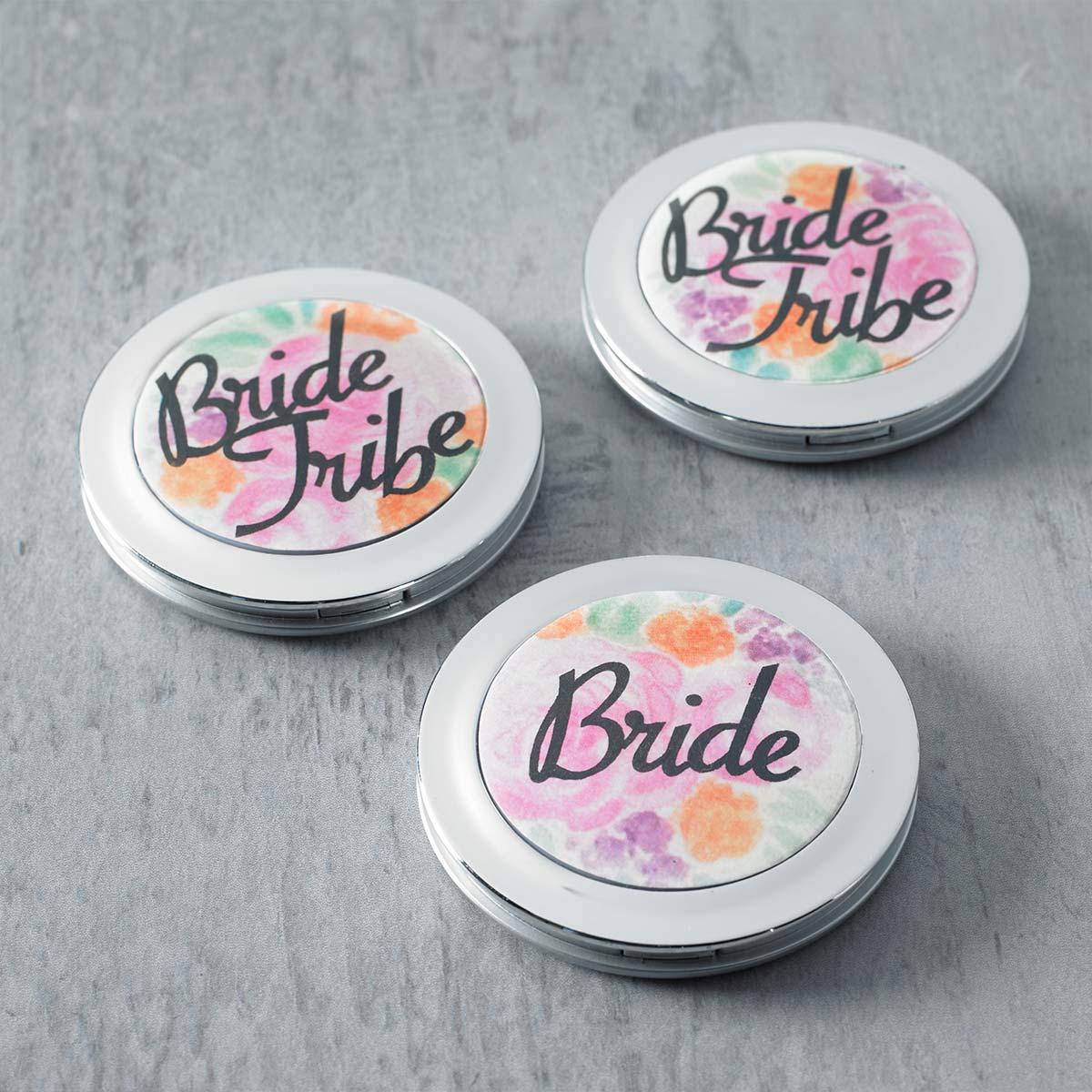 DIY Bridesmaid Gift Idea - Bride Tribe Compact