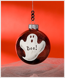 Boo Ghost Extreme Glitter Ornament