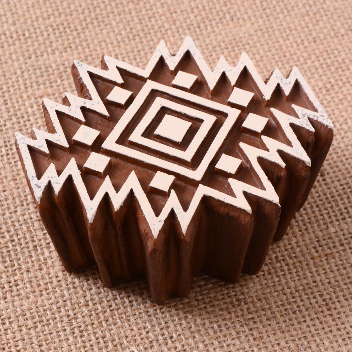 Fabric Creations™ Block Printing Stamps - Medium - Aztec Tile