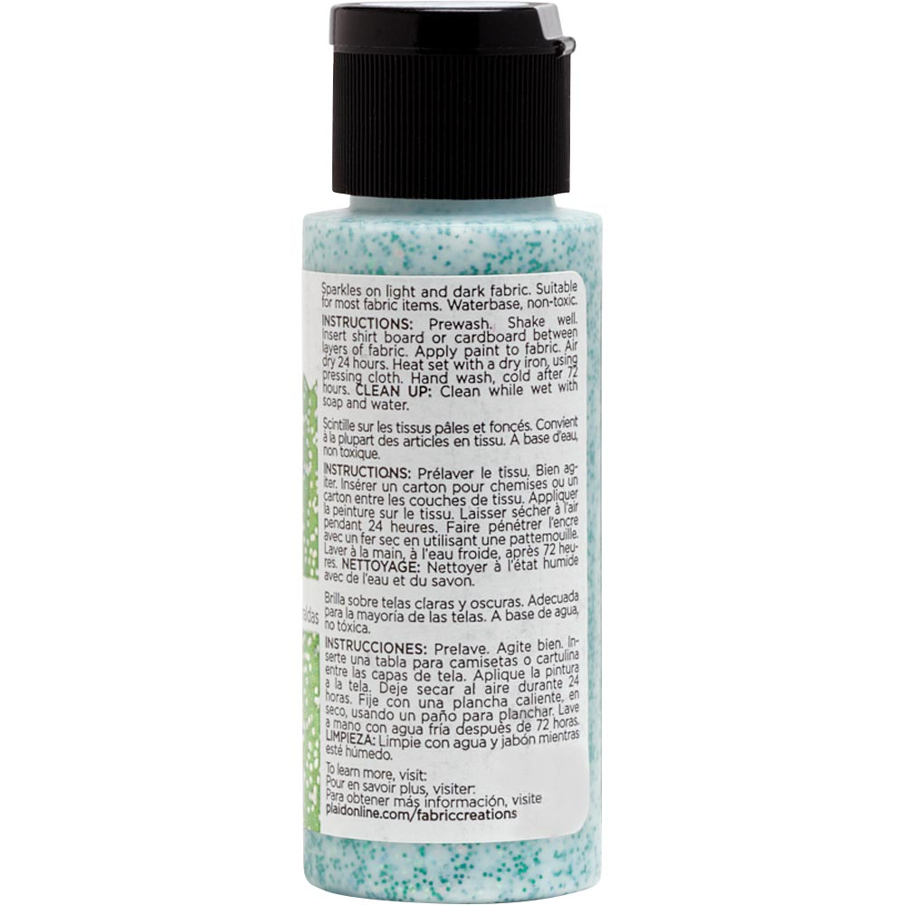 Fabric Creations™ Fantasy Glitter™ Fabric Paint - Emerald City, 2 oz. - 26359