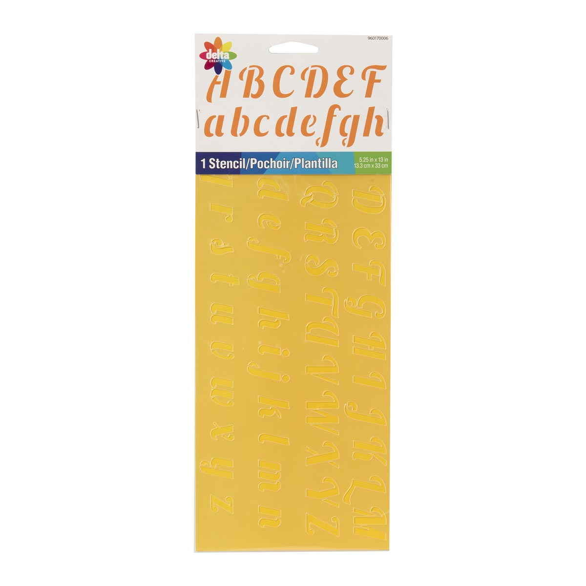 Delta Stencils - Alphabet - Script