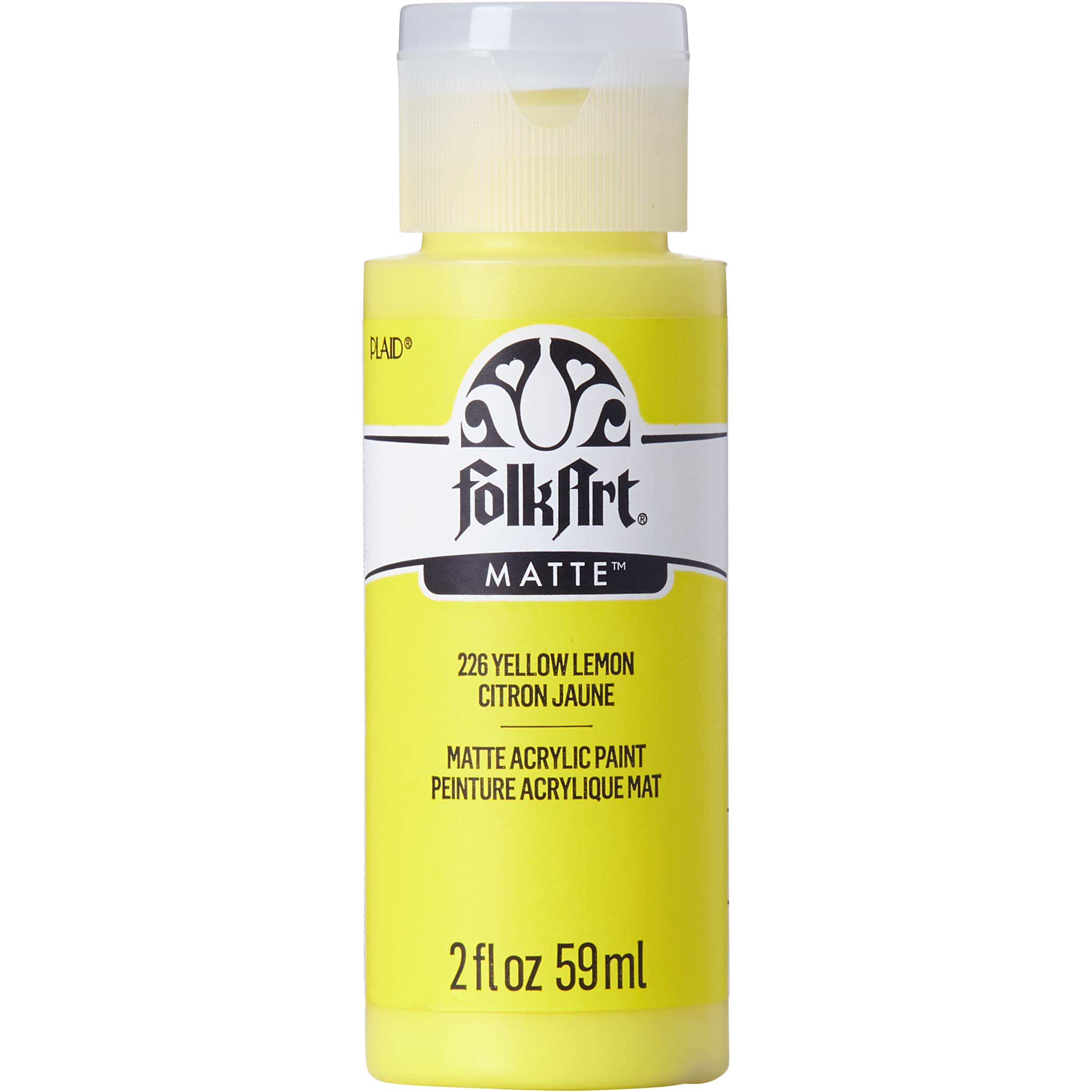 FolkArt ® Acrylic Colors - Yellow Lemon, 2 oz. - 226