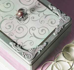 DIY Hand Painted Jewelry Box