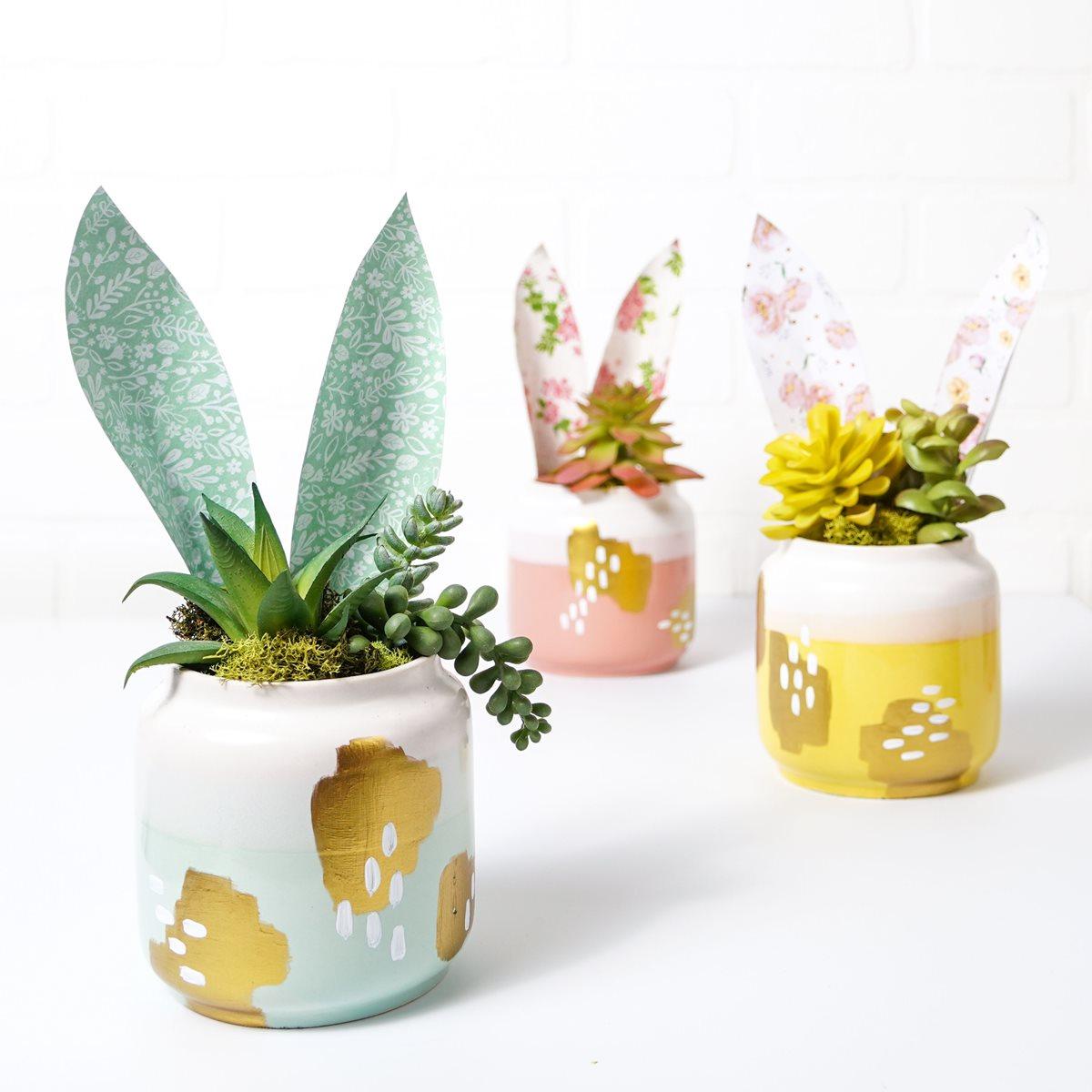 Modern Bunny Ear Pots