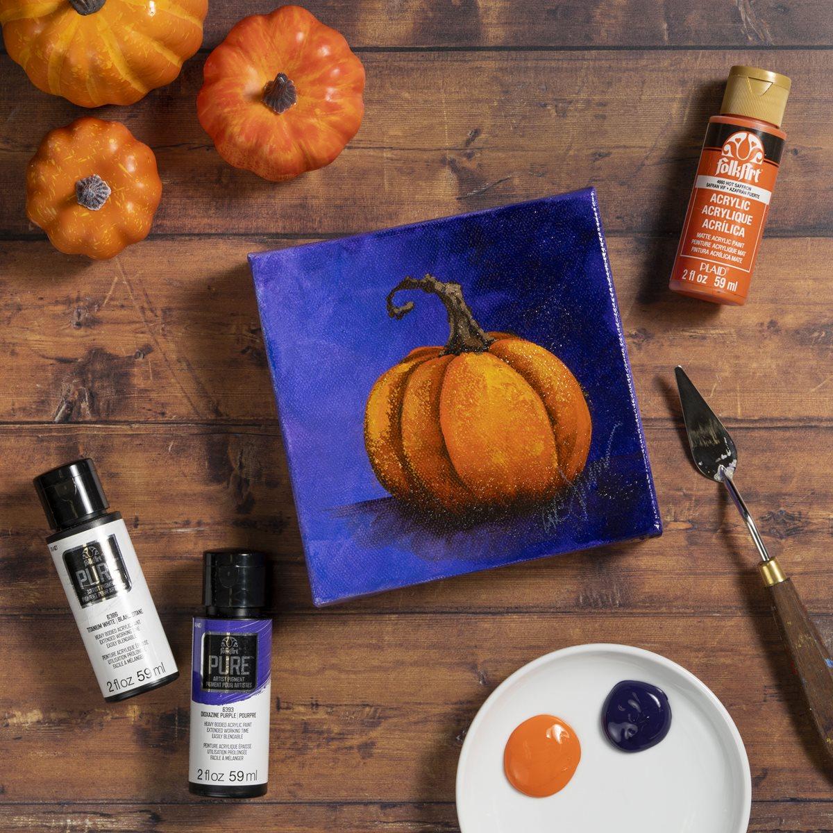 FolkArt Pure Artist Pigment Purple Pumpkin