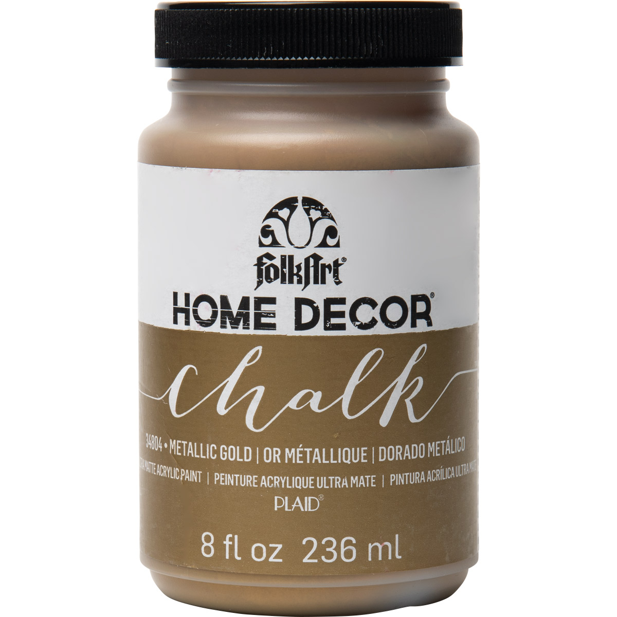 FolkArt ® Home Decor™ Chalk - Metallic Gold, 8 oz. - 34804
