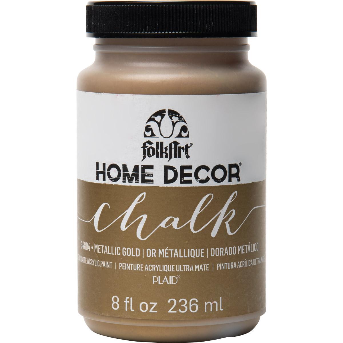 FolkArt ® Home Decor™ Chalk - Metallic Gold, 8 oz.