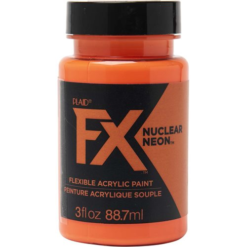 PlaidFX Nuclear Neon Flexible Acrylic Paint - Laser Beam, 3 oz. - 36878