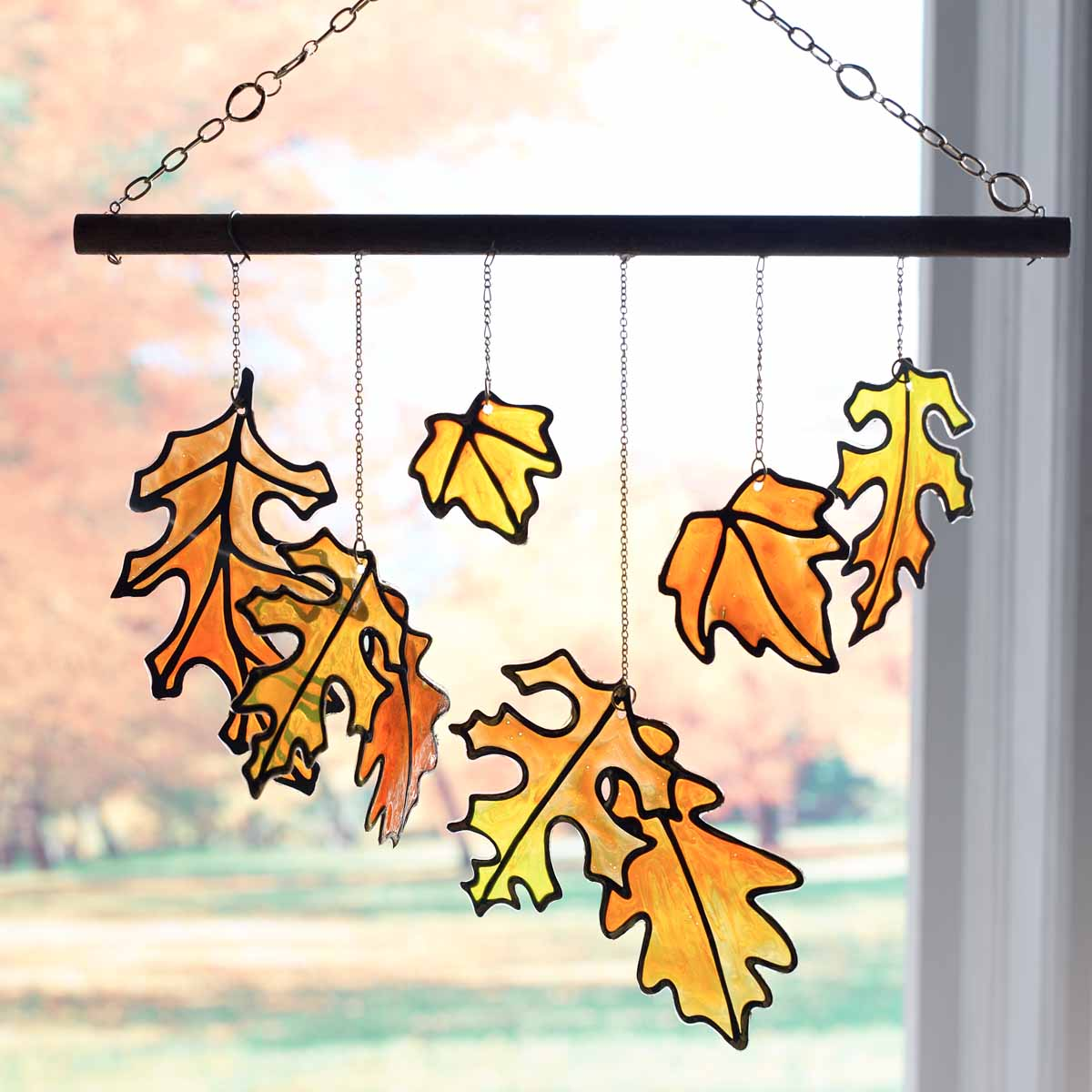 Gallery Glass Fall Leaves Mobile