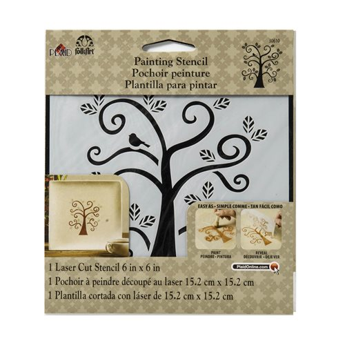 FolkArt ® Painting Stencils - Small - Curly Tree
