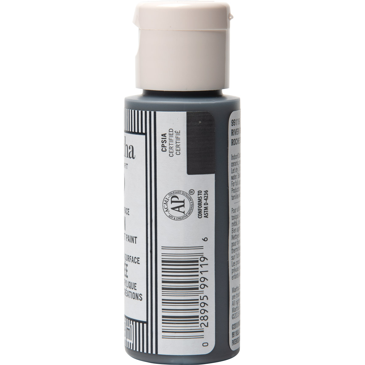 Martha Stewart ® Multi-Surface Satin Acrylic Craft Paint CPSIA - River Rock, 2 oz. - 99119
