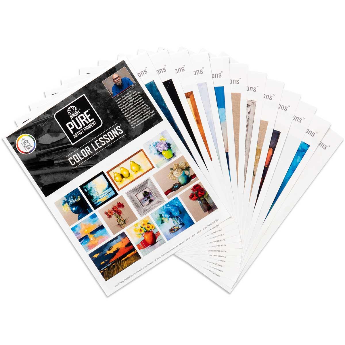 Let's Paint with FolkArt ® Pure™ Artist Pigment Color Creation Lesson Patterns, 12 pc. - 99437