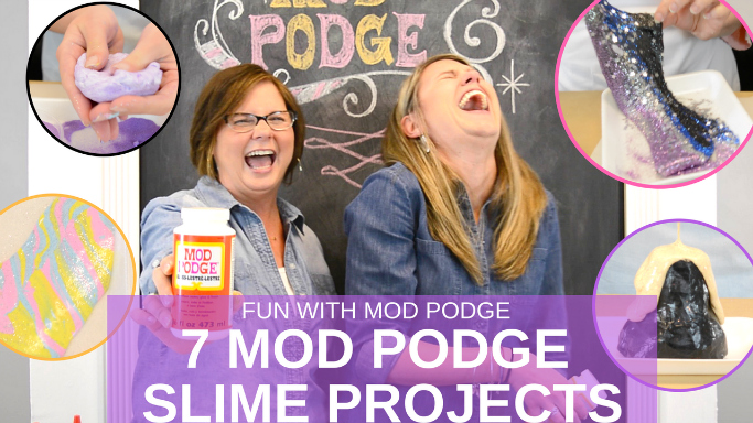 Mod Podge Slime: 7 ways! From Fluffy to Glow-In-The-Dark