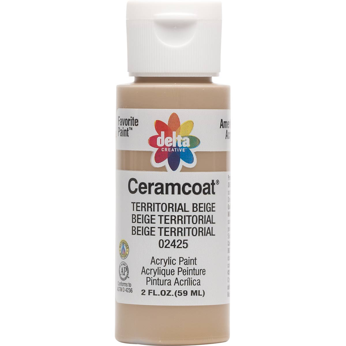 Delta Ceramcoat ® Acrylic Paint - Territorial Beige, 2 oz.