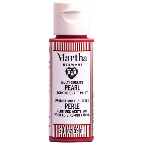 Martha Stewart ® Multi-Surface Pearl Acrylic Craft Paint CPSIA - Red Satine, 2 oz. - 72935