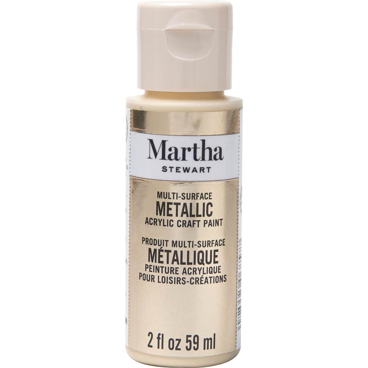 Martha Stewart ® Multi-Surface Metallic Acrylic Craft Paint - Light Gold, 2 oz. - 32996CA
